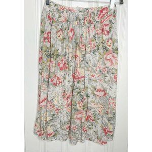 Ecote Urban Outfitters Pink Floral Pleated Skirt M